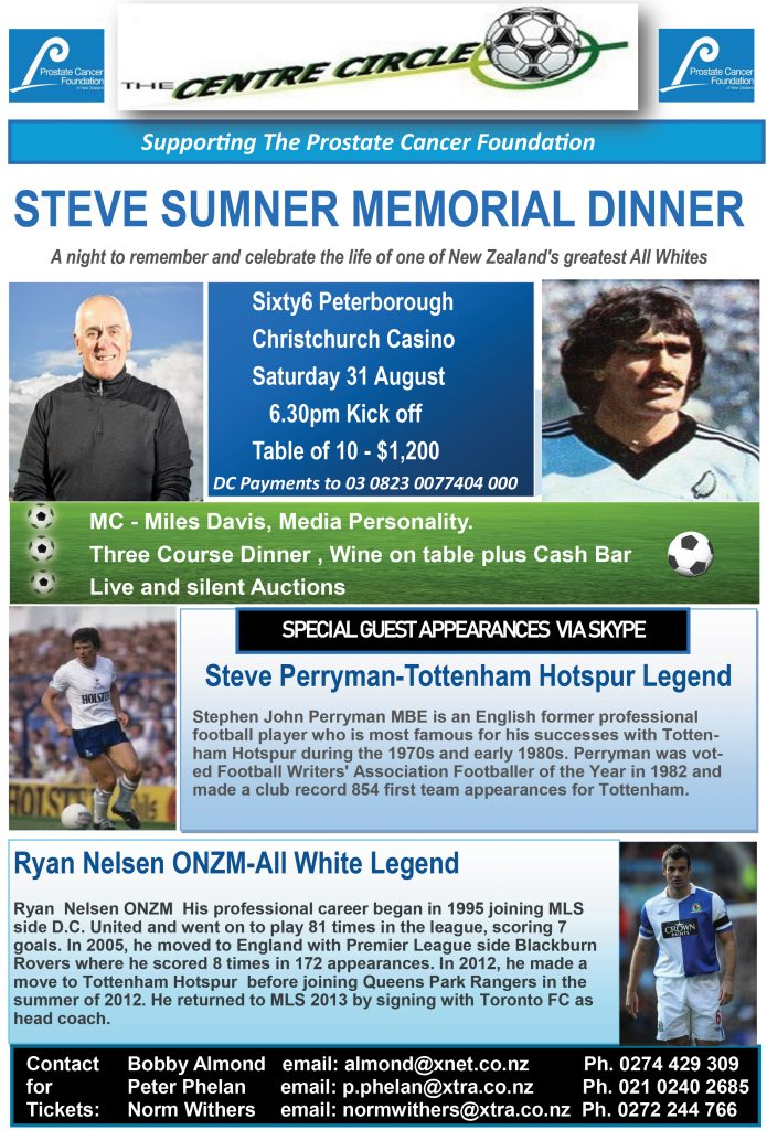 Steve Sumner Memorial Dinner @ Christchurch Casino | Christchurch | Canterbury | New Zealand